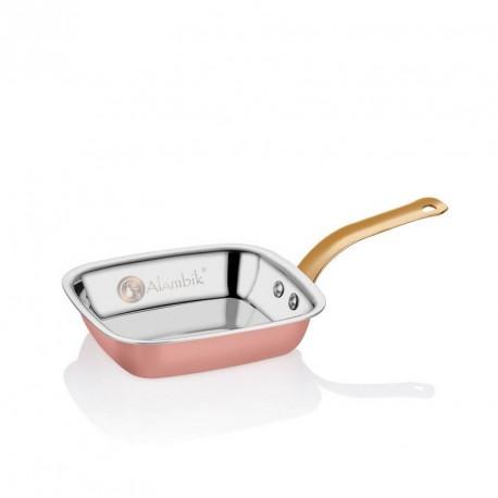 Медная квадратная сковорода для жарки (Малатья)