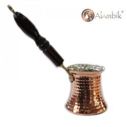 Медная турка с деревянной ручкой 140 мл