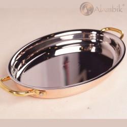 Медная овальная сковорода (Алиандра)