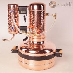 Самогонный аппарат из меди на 12 литров Геракл с дефлегматором