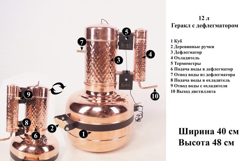 Строение самогонного аппарата на 12 л. Строение медного дистиллятора на 12 л