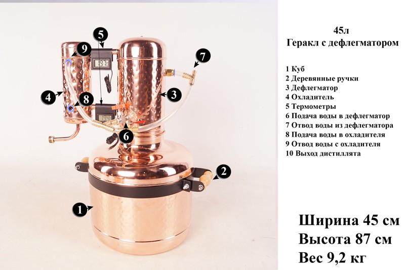 Геракл на 45 литров. Медный самогонный аппарат в Украине. Аламбик Геркулес